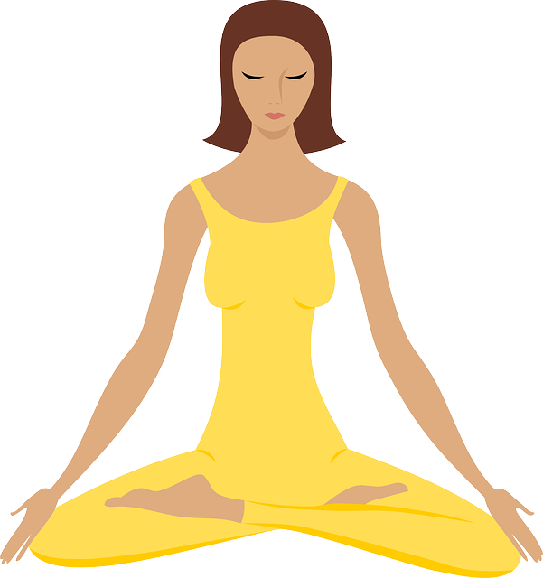 Girl Meditating in Yellow