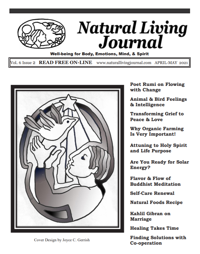 Natural Living Journal Cover April-May